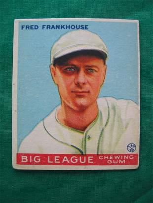 Fred Frankhouse 1933 Goudey Baseball Card