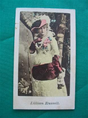 Lillian Russell 1890's Tobacco Card