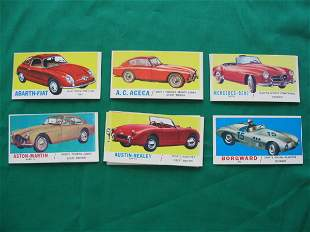 Topps Sports Cars Grouping of (24) c.1961