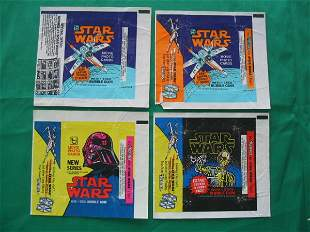 Star Wars 1977 Pack Wrappers (4) Different