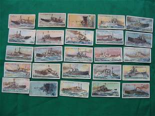 The World's Dreadnoughts Complete Card Set c1920