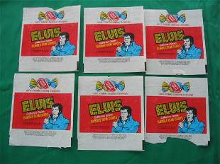 Elvis Collectors Series 1978 Pack Wrappers (6)