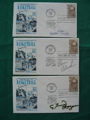 1961 First Day of Issue Basketball HOF Autographs