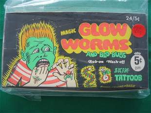 Glow Worms and Bed Bugs Unopened Box c. 1960's