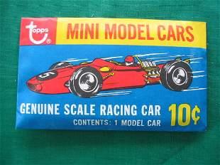 Topps Mini Model Cars 10 Cent Pack c. 1960's