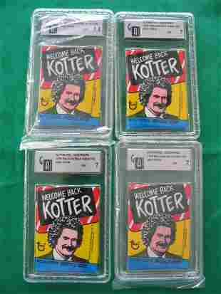 (4) 1976 Welcome Back Kotter Wax Packs