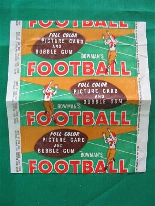 """1954 Bowman Football Card """"WRAPPER"""""""