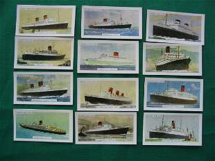 The Cunard Line by Mornflake Oats Set of 12 Ships
