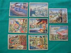 1110: Horrors of War Grouping of (8) Cards c. 1938