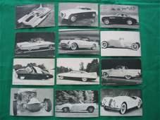 1240: American Sports Car Exhibit Card (12) c. 1940