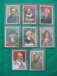 1265: Men of History Royal Bengals Tobacco Card (8) c.1