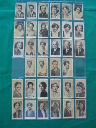 Eminent Film Personalities Cards (34) c. 1930's