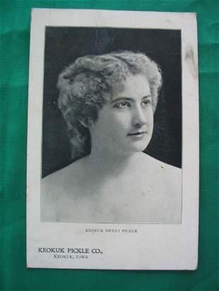 Keokuk Sweet Pickle Real Photo Cabinet Card