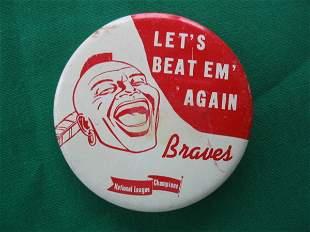 Milwaukee Braves 1958 Pin
