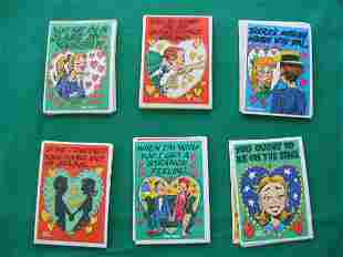 FUNNY VALENTINE A-Series Topps (40) Cards c1960