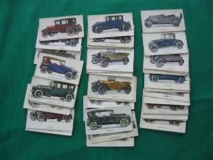 Motor Car Series Tobacco Cards c. 1920
