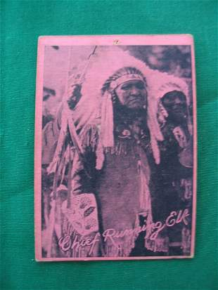 Chief Running Elk 1920's (W517) Indian Card