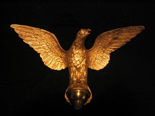 4019: Brass Eagle Clock Adornment
