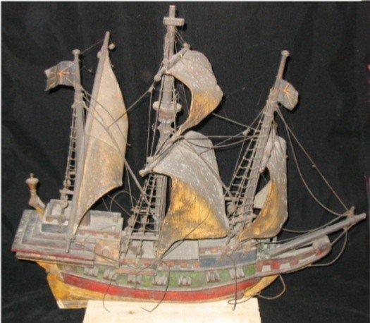 4023: Wooden 3 Mast Sailing Ship