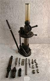 Rare Hollywood Reloading Press 8 Station with Drop