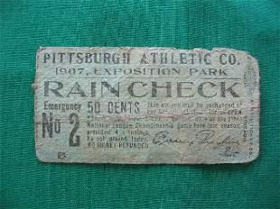Pittsburgh Pirates Baseball Ticket, 1907, Exposit