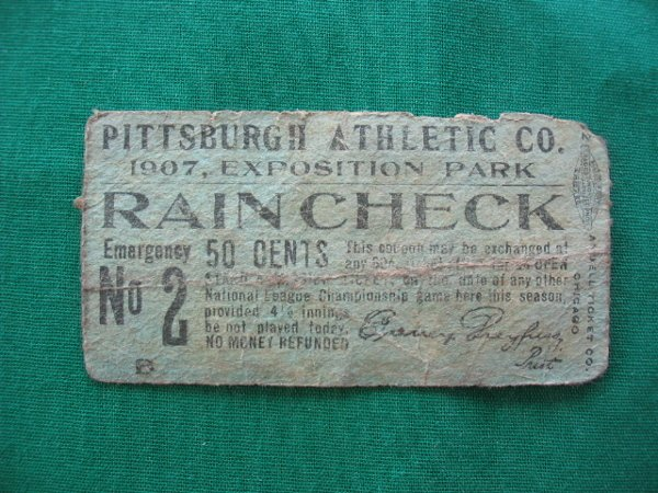 2001: Pittsburgh Pirates Baseball Ticket, 1907, Exposit