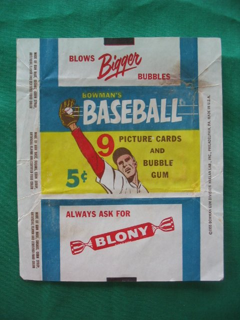 "2002: Vintage 1955 Bowman Baseball 5 Cent Pack ""Wrapper"