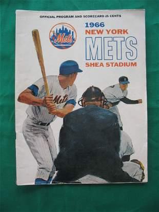 New York Mets Shea Stadium 1966 Official Program