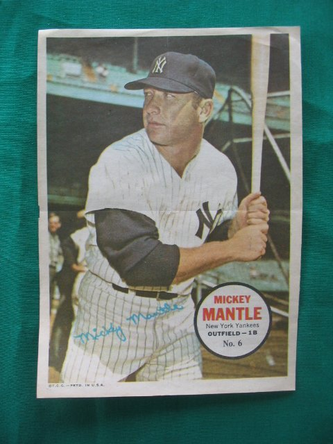 2005: Mickey Mantle  1960's Topps Baseball Poster No. 6