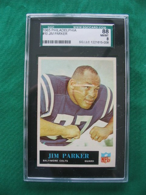 2008: Jim Parker #10 1965 Philadelphia  Football Card