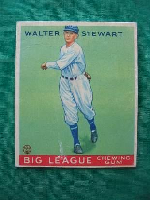 Walter Stewart 1933 Canadien Goudey Baseball Card