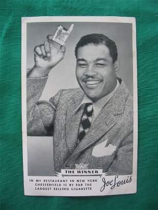 "Joe Louis ""The Winner"" Chesterfield Cigarettes A"