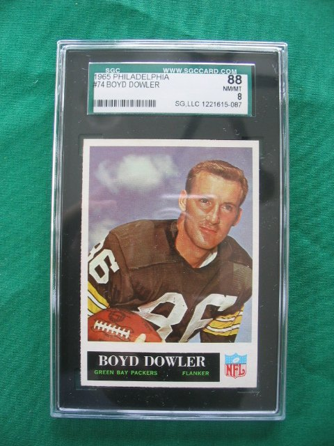 2018: Boyd Dowler #74 1965 Philadelphia Football Card