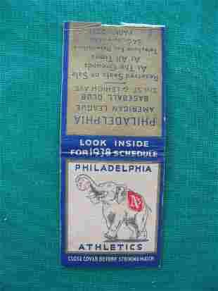 Philadelphia Athletics 1938 Home Games Schedule