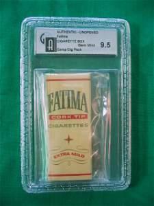 2301: Unopened Fatima Cigarette Box Graded 9.5 by GAI