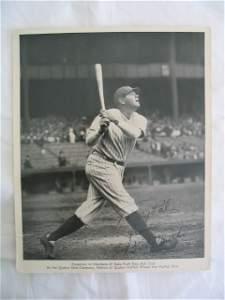 2400A: Babe Ruth, Signature Photo 8x10. Ruth, Baseball