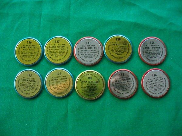 5: (10) 1964 Topps Baseball Coins