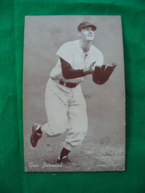 7: Gus Zernial Philadelphia A's 1950's Exhibit Card
