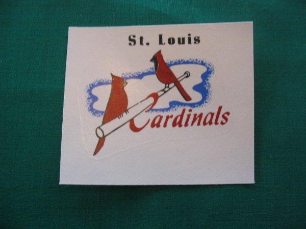 14: St. Louis Cardinals Major League Baseball Decal c.1