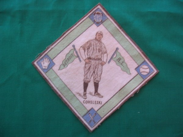 15: Harry  Coveleski 1914 B18 Tobacco Blanket