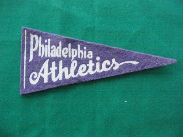 19: Philadelphia Athletics Baseball Pennant c. 1938