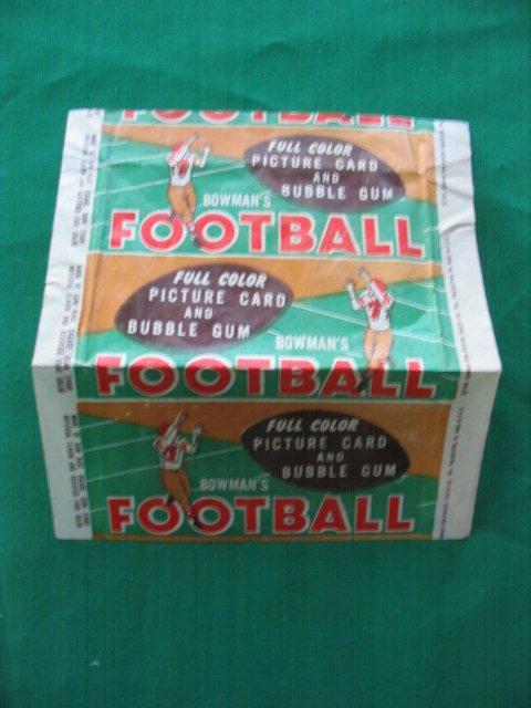 """20: 1954 Bowman Football Card """"WRAPPER"""""""