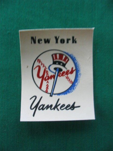 21: New York Yankees Major League Baseball Decal c.1955