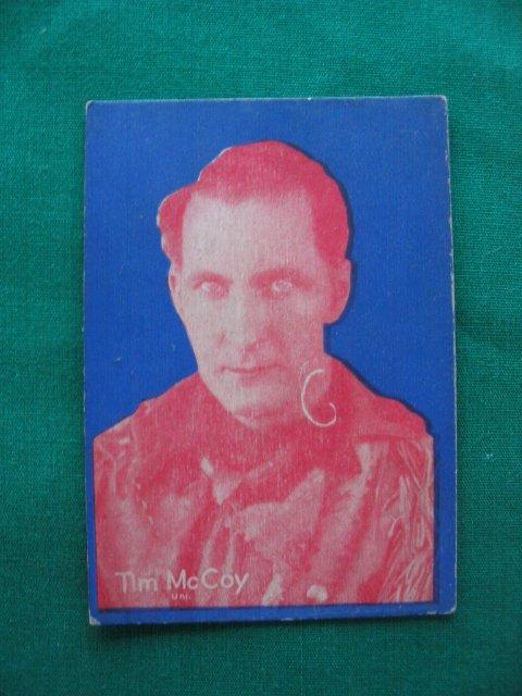 22: Tim McCoy 1920's (W517?) Scarce Series Cowboy
