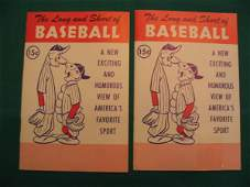 """94: """"The Long and Short of Baseball"""" Vintage 15 Cent Bo"""