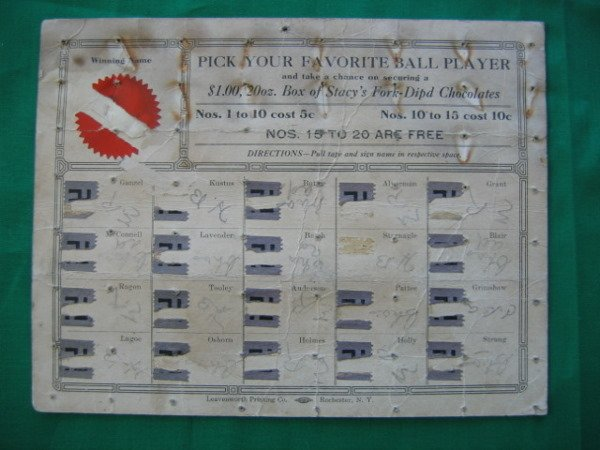 1006: Minor League Baseball Player Game c. 1909