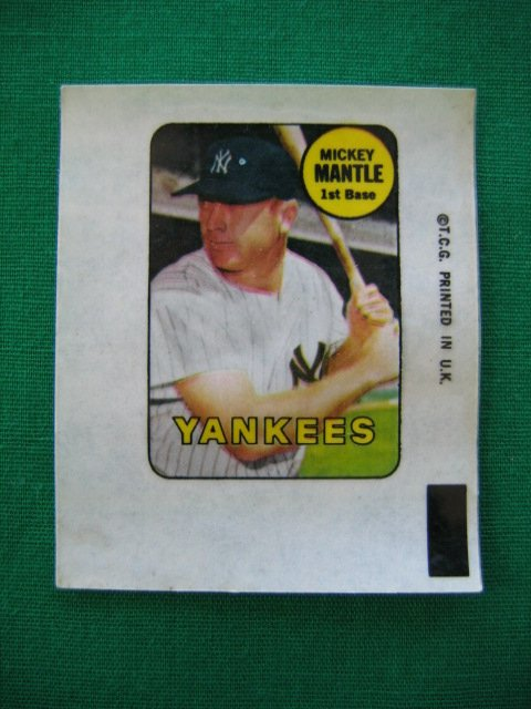 1007: Mickey Mantle New York Yankees 1969 Topps Decal