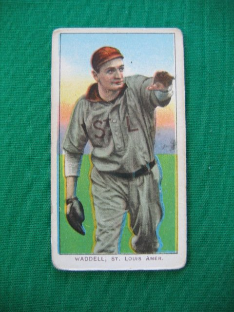 1021: Rube Waddell T206 Pitching Pose Tobacco Card