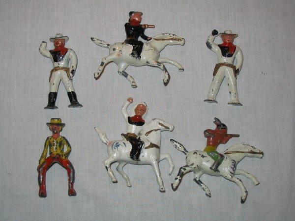 3003: (6) Lead Cowboy & Indian Figures