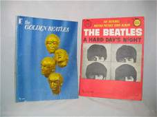 """3095: (2) Beatles Books """" A Hard Day's Night"""" """""""